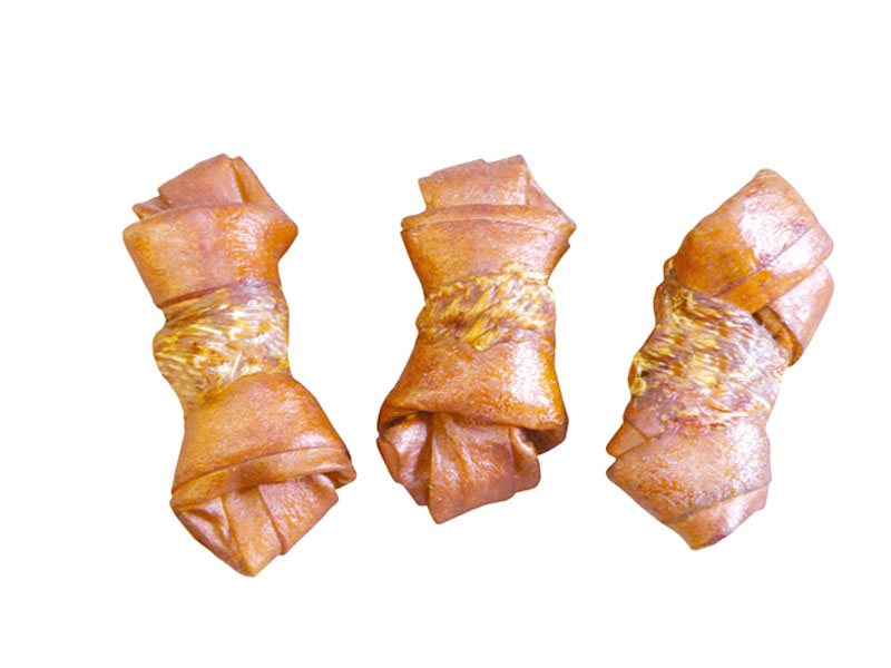 Chicken Wrap Beef Flavour Knotted Bone PL3004